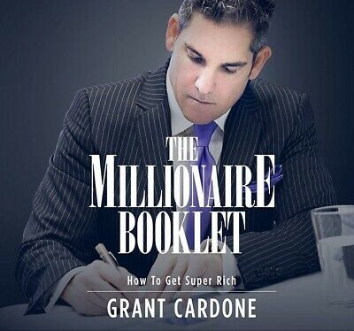 The Millionaire Booklet by Grant Cardone-MP3 audio audiobook