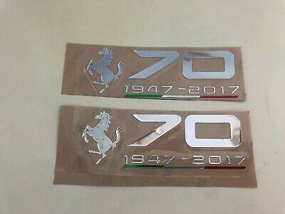 Ferrari 70th Anniversary Sticker LH /& RH Side Kit Chrome Color Modified