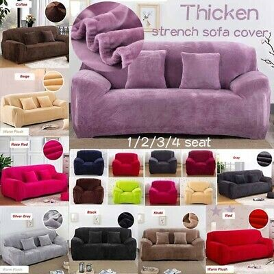 1/2/3/4 Seater Sofa Couch Covers Furniture Protector Slipcovers Stretch Elastic