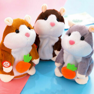 Cute Talking Hamster Nod Mouse Record Chat Mimicry child Plush Toy Gifts UK