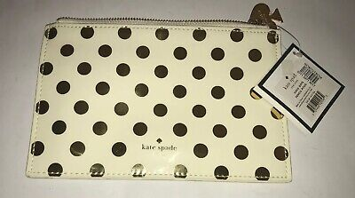 Authentic New Kate Spade New York Gold Dots Pencil Pouch Only