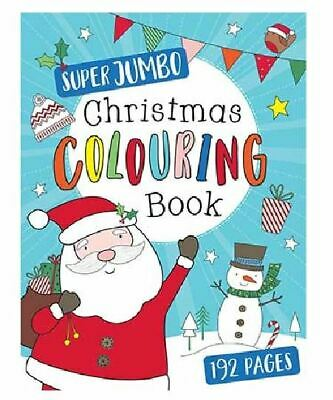 192 Pages A4 Kids Jumbo Christmas Colouring Book Childrens Activity Stocking Toy