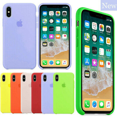 Original Silicone Case For iPhone XR X XS Max 7 6 8 6S Plus Genuine Hard Cover