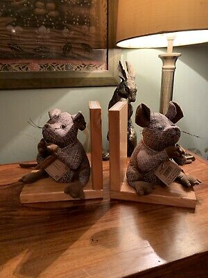 Rare Dora Mouse and Company Bookends Collectible