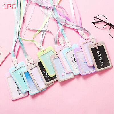 Bank Plastic Work ID Passport Protector Bus Badge Protective Shell Card Holder