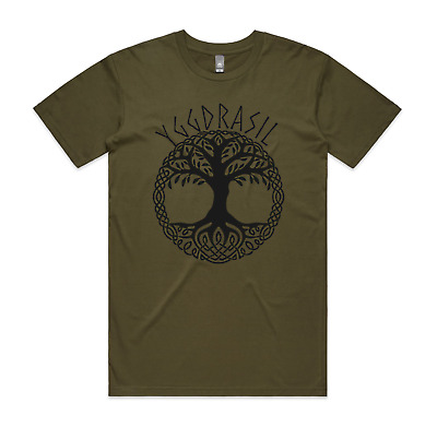 Yggdrasil Tree Of Life Men's T shirt Viking Norse Mythology Symbol T shirt