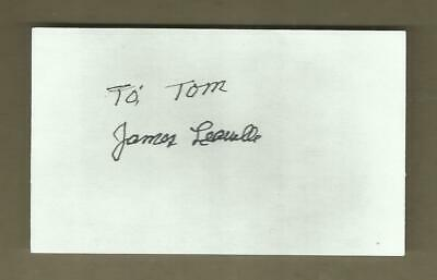 James Leavelle signed 3x5 card handcuffed to Lee Harvey Oswald