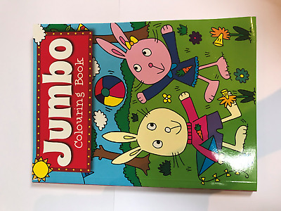 A4 150 Page  Jumbo Children's Colouring Books Book Fun Pictures Learning