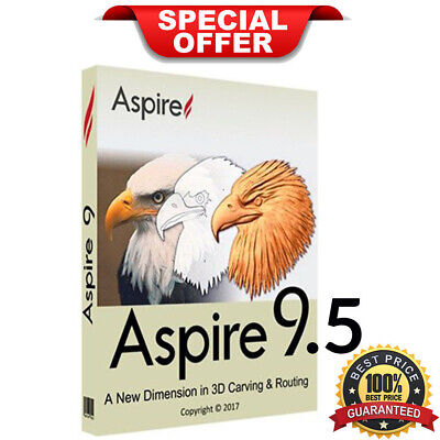 Vectric Aspire 9.5 | Full Version Download | Lifetime License (INSTANT DELIVERY)