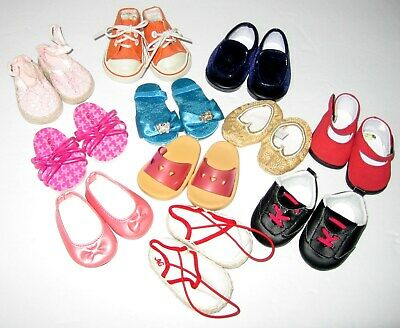 American Girl SHOE LOT 11 Pairs Of Doll Shoes