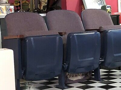 Row Of Three Theater Seats - Vintage From A Theater In Tennessee