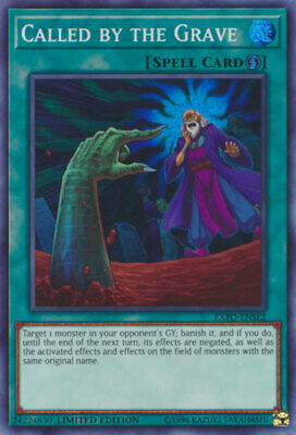 Yugioh Limited Edition Super Rare Called by the Grave EXFO-ENSE2 'NM NEAR MINT!
