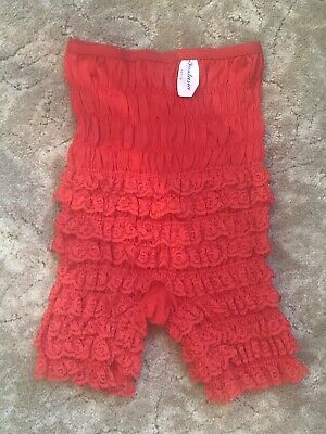 Vintage 1960s True Red Ruffled Nylon Lace Petti-Pants Tap panty Bloomers # X