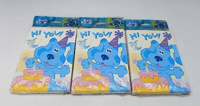 BLUE/'S CLUES PARTY THEME PACKAGE OF 8 INVITES AND THANKS
