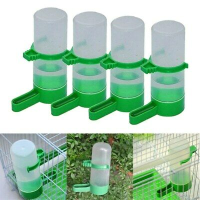 4X Bird Pet Drinker Mangeoire Food Feeder Clip for Aviary Cage Budgie Lovebirds