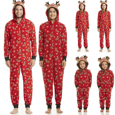 Family Matching Mens Womens Kids Elk Christmas Pyjamas Nightwear Pajamas New