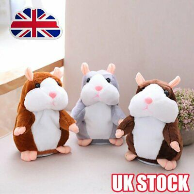 Talking Hamster Cute Nod Mouse Record Chat Mimicry Pet Plush Toy Xmas Gift  B$