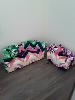 Handmade Doll Couch and loveseat For Barbie Type Dolls.