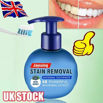 Natural Intensive Stain Remover Whitening Toothpaste Fight Bleeding Gums HOT B$