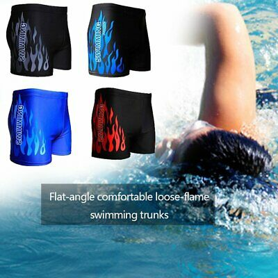 Men's Boxer Briefs Swimming Swim Shorts Trunks Swimwear Beach Pants Underwear rL