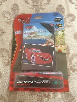 New Kids Disney Pixar Cars Lightning McQueen Pin Mosaic Suitable For Ages 6+(i)