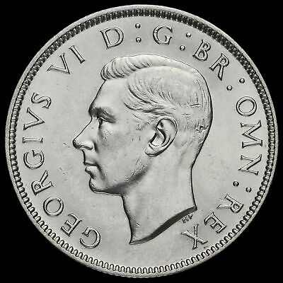 1937 George VI Silver Two Shilling Coin / Florin, EF