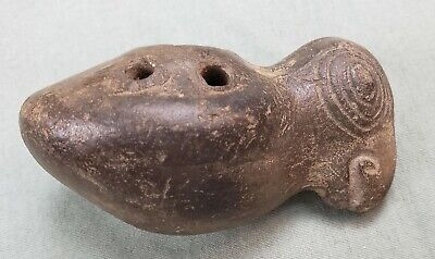 Pre Columbian Bird Parrot Whistle Figure 3 Inches Works
