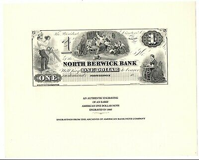 ABNC AMERICAN BANK NOTE CO LOGO INTAGLIO PRINTED **FREE SHIPPING**