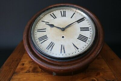 "Ansonia Wall Clock New York USA 12"" Face Walnut Pendulum Vintage Antique 1900"