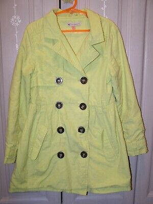 John Lewis girl age 8 years citrus green cotton summer jacket double breasted