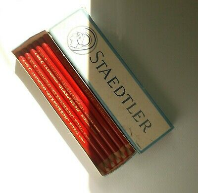 STAEDTLER VTG GLASOCHROM Normal Colored China Marker Grease Pencil Red