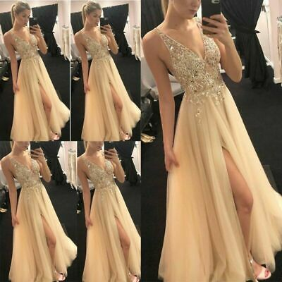 Women Formal Bridesmaid Dresses Wedding Party Ball Prom Gown Long Cocktail Dress