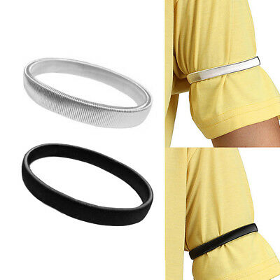 1PC Shirt Sleeve Holders Arm Bands Elasticated Metal Armband For Men Ladies AN