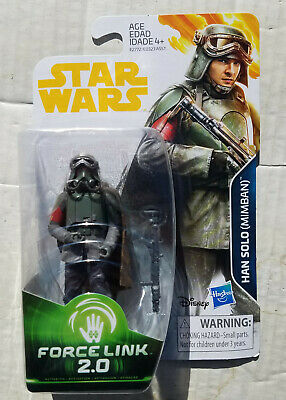 """Star Wars HAN SOLO MIMBAN Force Link 2.0 Solo Movie 3.75"""" Action Figure 2018 MOC"""