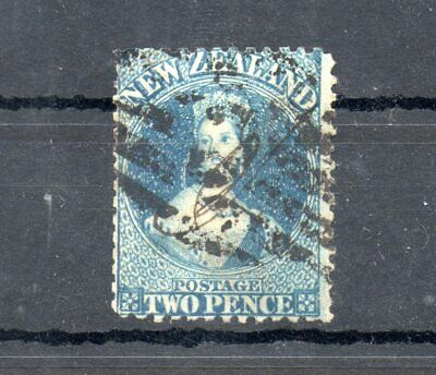 Old stamps of  New Zealand blue two pence used