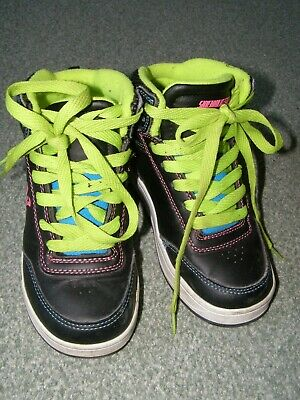 Heelys Sidewalk Sports hi-top black green roller trainers size UK 13 skate shoes