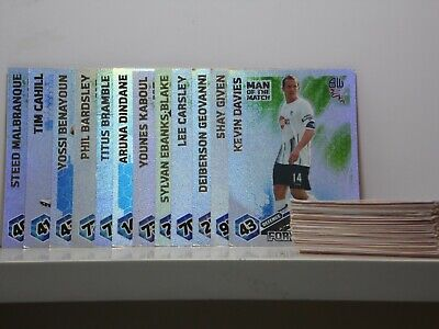 Match Attax 09/10 Huge Bundle (64 Cards) Including 12 Man of the match Cards