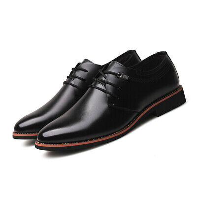 Mens Leisure Business Leather Shoes British Breathable Non-slip Comfy Formal New
