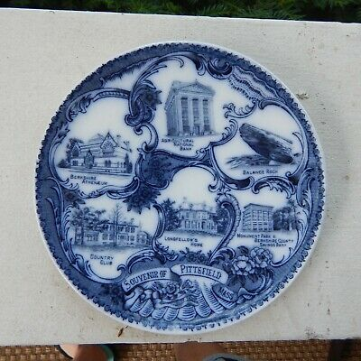 Souvenir of Pittsfield, MASS MA Massachusetts Wheelock England Plate circa 1910