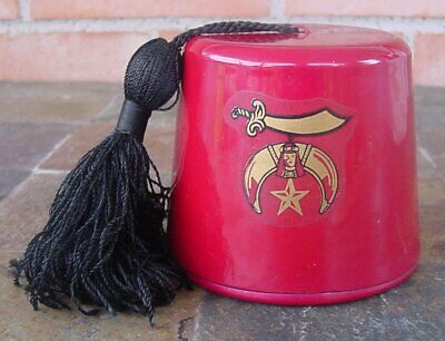 Syria Potentate Fez Cast Steel Bank Shriners Hat  3 1/2""
