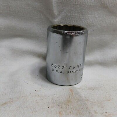 """Proto 3/4"""" Drive 1"""" Socket 5532 - 12 Point - Made in the USA"""