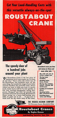 1951 PAPER AD 4 PG Roustabout Crane IH Tractor Hughes Keenan