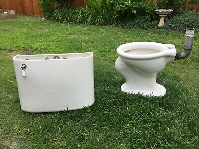 vintage toilet-white crane from the 20's