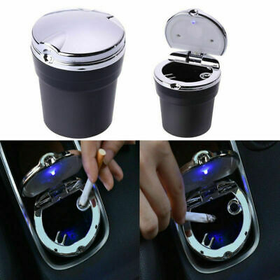 Portable Car Bucket Cigarette Cup Ashtray LED Smoke Remover Travel Ash Holder