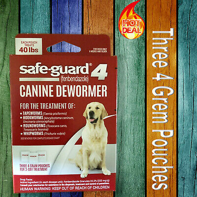 8in1 Safe-Guard Canine Dewormer for Large Dogs, 4gm,3-Day Treatment Powder