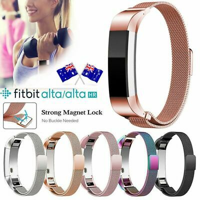 For Fitbit Alta / Alta HR Magnetic Milanese Stainless Steel Watch Band Strap AU