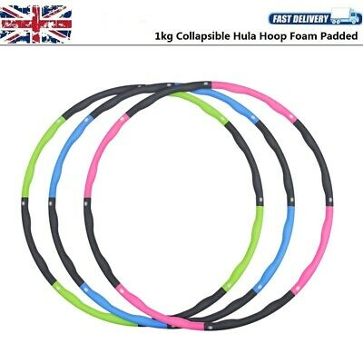 Collapsible 8 Pieces 1KG Weighted Hula Hoop Fitness Gym Exercise Body Slimming