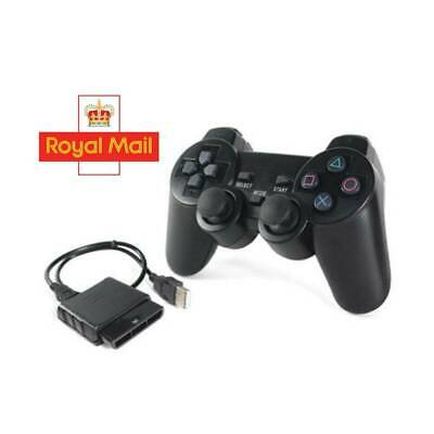 Black Wired Dual Shock Controller for PS2 PlayStation Joypad Gamepad UK Stock