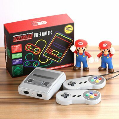 Retro Game Console HDMI TV Built-in 621 Games for Super Nintendo with Controller
