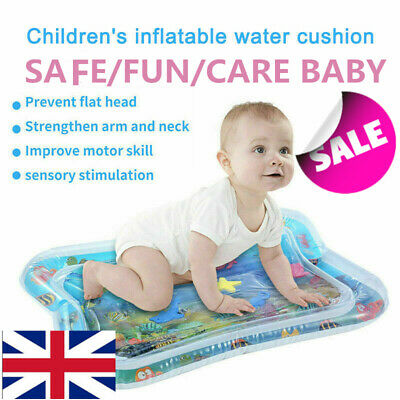 Inflatable Water Play Mat Infants Baby Toddlers Kid Perfect Fun Tummy Time UK